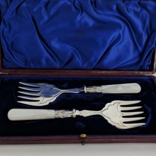 Vintage Pair of Sardine Forks.