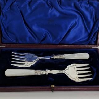 Vintage Pair of Sardine Forks.