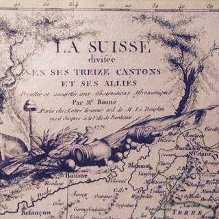 La Suisse divisée en ses treize cantons et ses alliés... / par M. Bonne