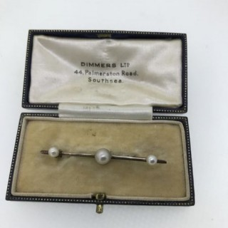 Edwardian Gold and Pearl Brooch.
