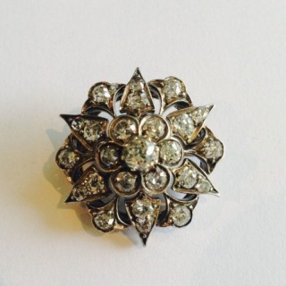 Victorian Diamond Brooch.