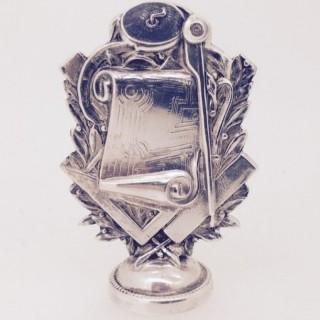 Antique Silver Masonic Seal.