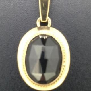 Vintage Garnet and Gold Pendant. Necklace