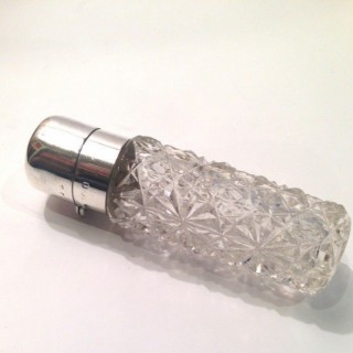 Antique Silver and Glass Scent Bottle.