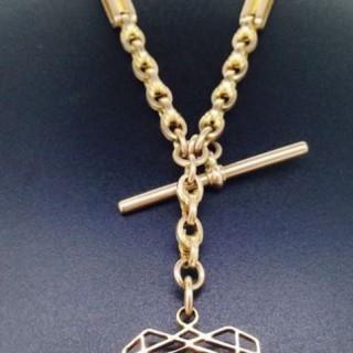 Victorian Rose Gold Albert Watch Chain.