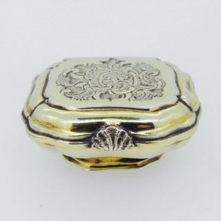 C18th Bruglocher Silver Double Spice Box.