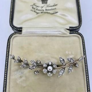 Antique Diamond Brooch.