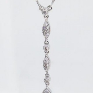 Diamond Drop Necklace.