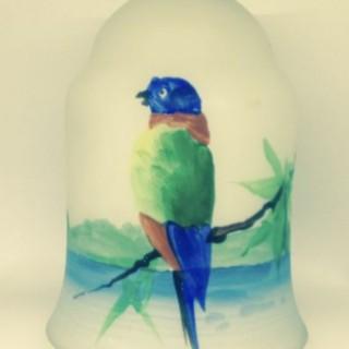 Art Deco Glass Parrot Shade.