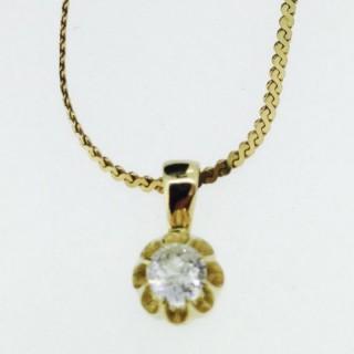 Diamond Solitaire Necklace.