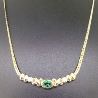 Gold and Diamond Necklet