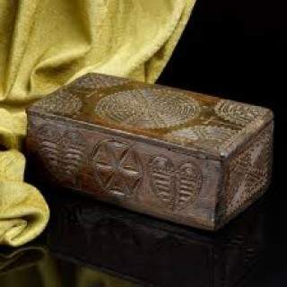 Early English Oak Missal Box