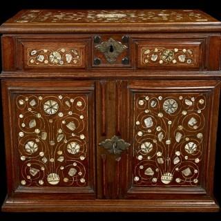 A Walnut table cabinet, English c.1670