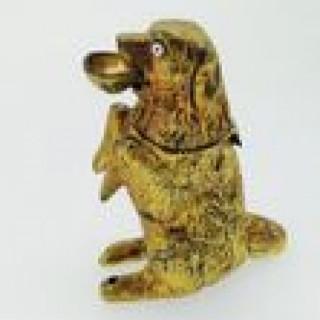 Victorian Dog Vesta Holder/ Light.