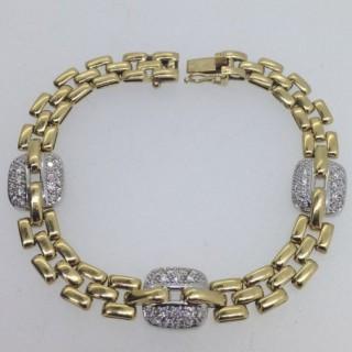 18ct Gold and Diamond  Bracelet