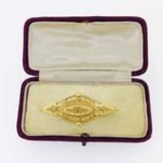 Antique Gold Bar Brooch.