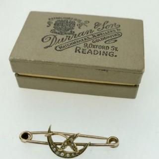Antique Pearl Brooch.