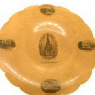 The Scott Monument Edinburgh Mauchline Ware Dish