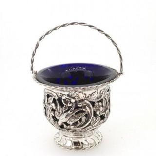 Antique Silver Sugar Basket.