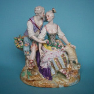Shepherd & Shepherdess Porcelain Group