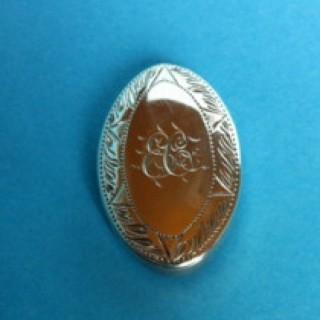 Silver Oval Snuff Box