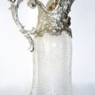 Silver and glass Claret Jug.