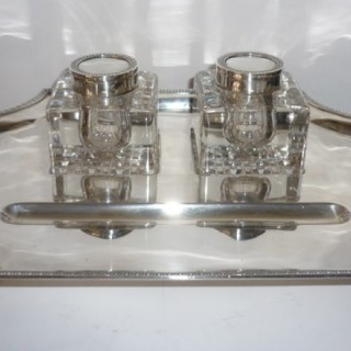 Large Silver Inkstand.