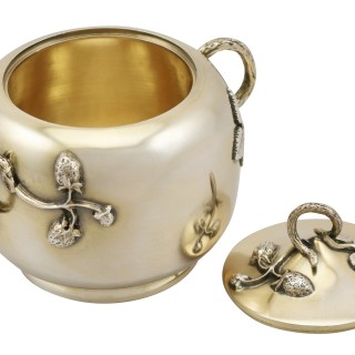 French Silver Three Piece Tea Service - Antique Circa 1880