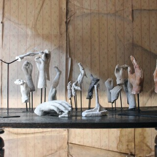 In the Manner of Eduardo Paolozzi: A Group of 23 Early/Mid 20thC Plaster Maquettes