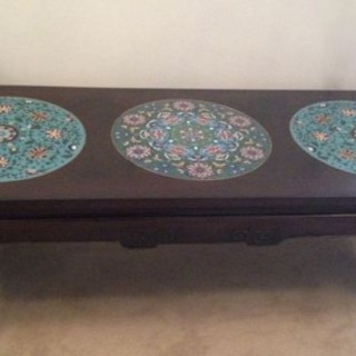 Chinese Cloisonne Table.