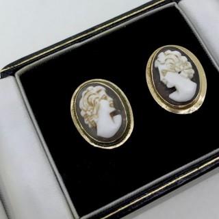 Pair Cameo Earrings