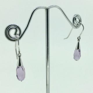 Amethyst Briolette Earrings.