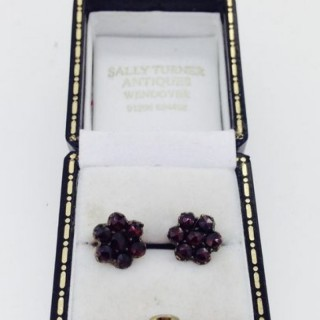 Antique Garnet Earrings.