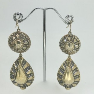 Bedouin Silver Gilt Earrings