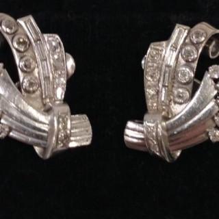 Vintage Diamond and Platinum Earrings.