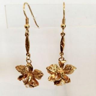 Greek Gold Drop Earrings.