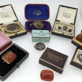 Selection of Scottish Agate Brooches