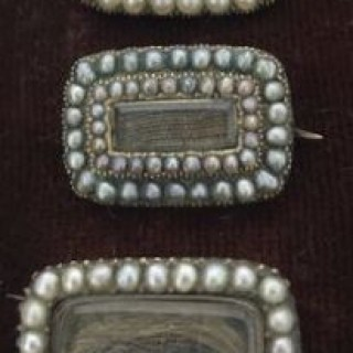 Collection of Antique in Memoriam Brooches.