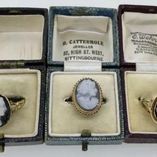 Hardstone Cameo Rings