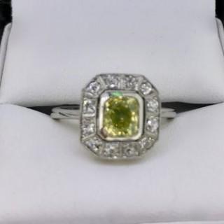 Rare Natural Yellow Diamond Ring