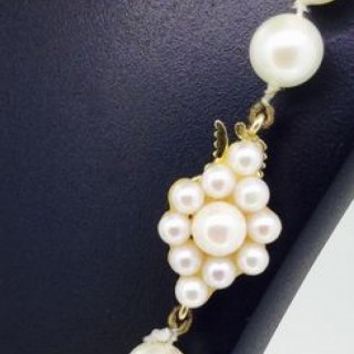 Vintage Long Pearl Necklace.