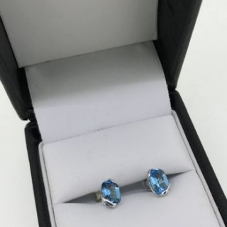 Topaz and Gold Earrings.