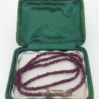 Antique Garnet Necklace,