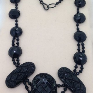 Antique Whitby Jet Necklace.
