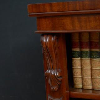 Victorian Mahogany Open Bookcase