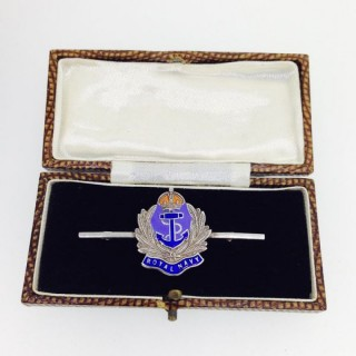 Silver Royal Navy Brooch.