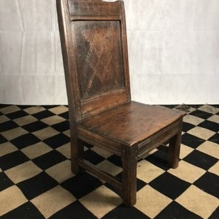 Oak Child Chair, 18th Century