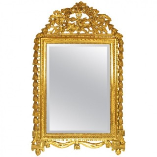 18th Century Louis XVI Giltwood Mirror