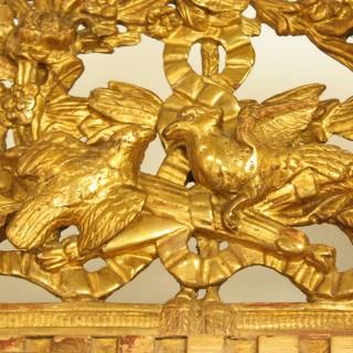 18th Century Louis XVI Giltwood Mirror