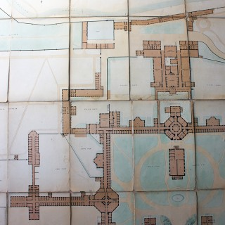 A Rare Victorian Architect's Site Plan for Middlesex County Lunatic Asylum, Hanwell 1874